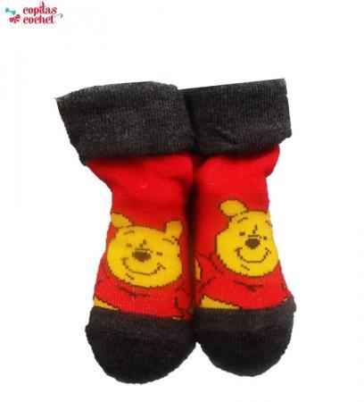 Sosete bebe Winnie the Pooh (rosu)