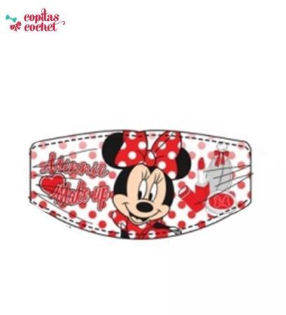 Bandana Minnie Mouse (alb cu buline)