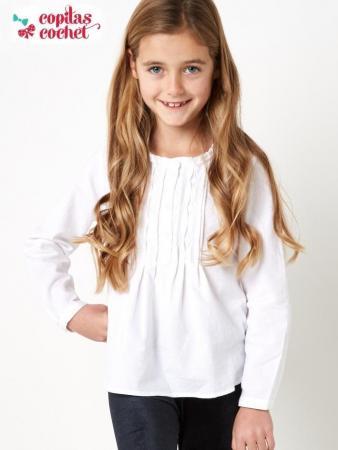 Bluza alba pentru fetite