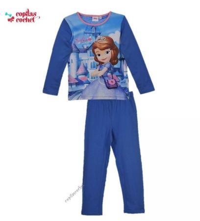 Pijamale fetite cu Sofia I(albastru) 1