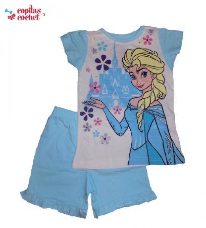 pijamale-vara-frozen-bleu