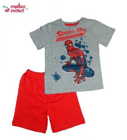 pijamale-vara-spiderman-rosu